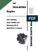 CTL55 Compact Track Loader Yanmar 4TNV84T Engine Parts Manual 917324B