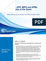 MACRA, QPP, MIPS and APMs Rules of the Game