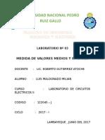 3 L. Medida de Valores Medios y Eficaces