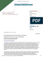 Empoderamiento_ Proceso, Nivel y Contexto