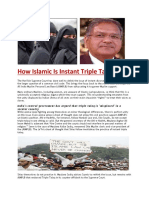 How Islamic is Instant Triple Talaq