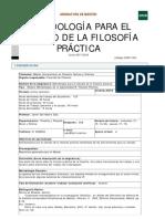 Metodología Para El Estudio de La Filosofía Práctica