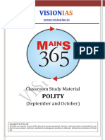 30. Mains 365 Polity - Sep and Oct-