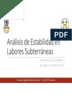 Análisis de Estabilidad en Labores Subterráneas