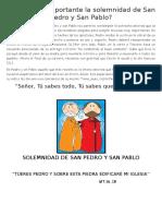 Solemnidad de San Pedro y San Pablo