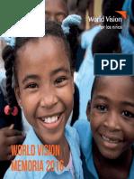 Memoria 2016, World Vision Dominicana