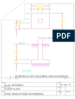 Sched of Columns and Footings Model 1