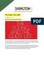 Duncan Dixson Washington Life Magazine Young and Guest List 2007