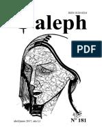 Aleph. Revista. No. 181. Abril / Junio 2017. Manizales.