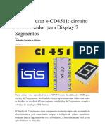 Aprenda Usar o CD4511