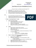 Non Operative Proximal Humeral Fx