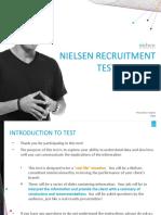 Nielsen Recruitment Test