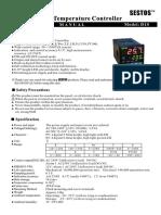 Sestos D1S-VR-220 Digital Temperature Controller
