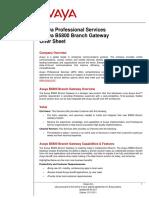 Avaya B5800 Branch Gateway Professional Services Offer V1