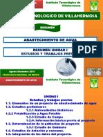 UNIDAD 1 AGUA POTABLE 2015 RESUMEN Para Examen Agosto Diciembre 2015