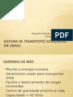 Sistema de Transporte Horizontal Em Obras