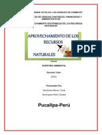 Aprovechamiento Sostenibles de Los Recursos Naturales 1