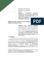 Arteaga Acevedo Demanda de Filiacion Extramatrimonial