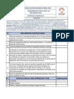 Requerimientos Fase 1 ,Aprobacion y Verificacion PGIO