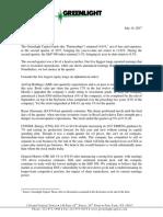 Greenlight Capital - Full Second Quarter 2017 Letter