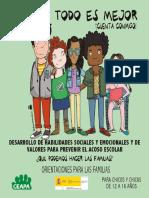 Folleto Familias Habilidades Prevencion Del Acoso Escolar 12 a 16 Ceapa