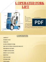 Pedal Operated Forklift