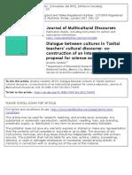 Diálogo entre culturas en el discurso cultural de los profesores tzeltales
