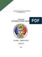 Anale Istorie Oradea 2006