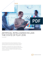 Artificial Intelligence in Law the State of Play 2016