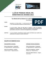 Plan Anual Ministerio de Jóvenes 2015