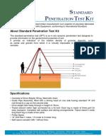 Standard Penetration Test Kit