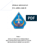 Proposal Idul Adha 2015 1436H
