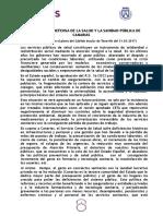 Moción Defensa Sanidad Pública Tenerife, Marea Sanidad, Podemos Tenerife (Pleno Cabildo 31.03.17)