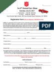 2017 Car Show Registration Form