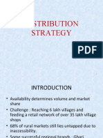 Distribution Strategy in rural marketing