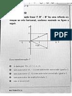 Questões Enade Álgebra Linear