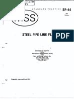 MSS SP-44 Steel Pipeline Flanges