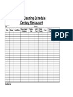 Daily Cleaning Form 2014