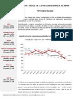 Indice de Custos Condominiais 201611