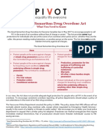 Good Samaritan Drug Overdose Act Fact Sheet