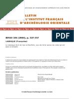 Labrique, BIFAO 104 (2004), Le Catalogue Divin de Ayn Al-Mouftella