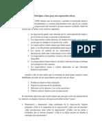Principios o Bases Para Una Negociación Exitosa.