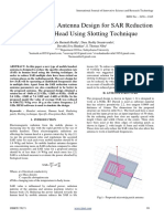 Microstrip Patch Antenna Design for SAR Reduction in Human Head Using Slotting Technique