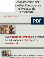 Moreta Del Papel Del Educador en El Proceso de Enseñanza