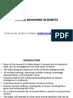 Animal Behaviors in Robotsn2 Andieri