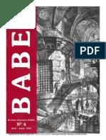 Babel - Revista Literaria. Año 3, No. 4.
