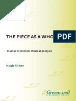 Hugh Aitken.the Piece as a Whole