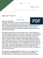 Romanos 12 Bíblia King James Atualizada