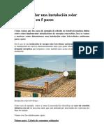 Cómo Calcular Una Instalación Solar Fotovoltaica en 5 Pasos