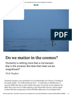 Do We Matter in the Cosmos?